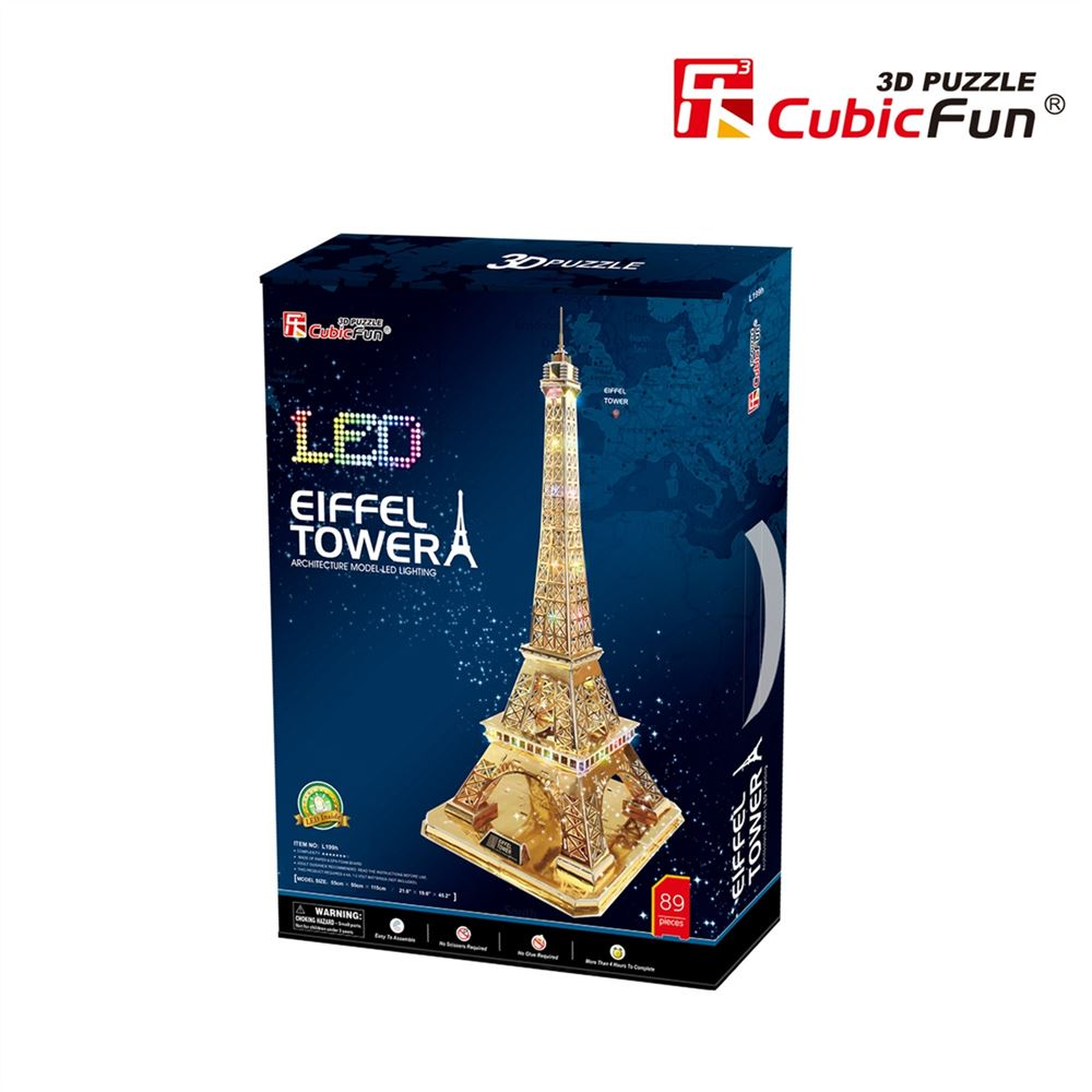 Eiffel Tower Led 3D Maket